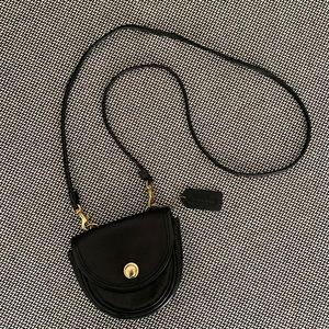 Vintage COACH Black Mini Crossbody Belt Bag